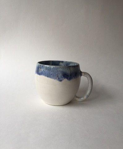 Indigo/White Mug by IIIVVVYYY