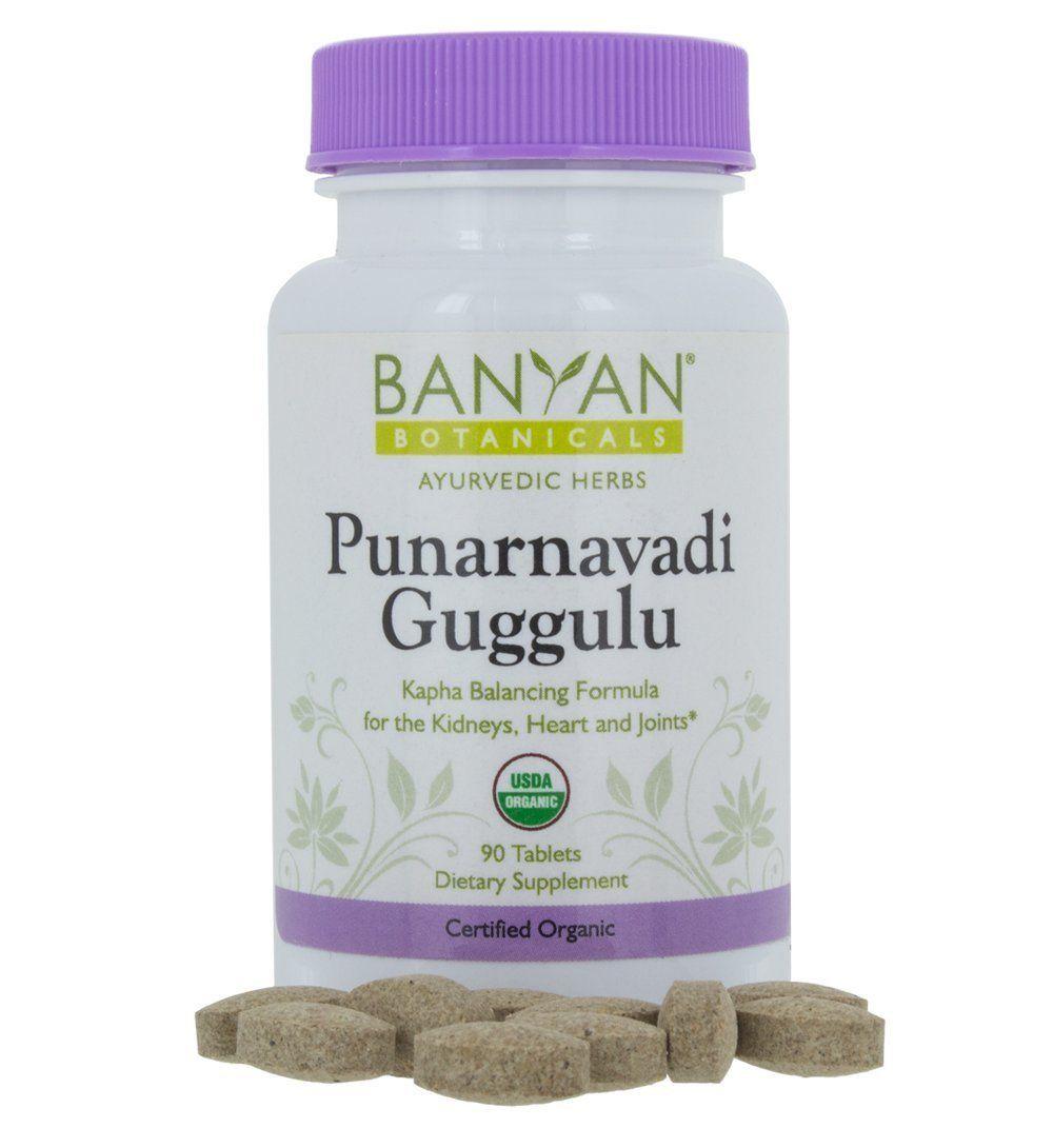 Banyan Botanicals Punarnavadi Guggulu Certified Organic 90 Tablets Kapha Balancing Formula For The Kidneys Ayurvedic Herbs Usda Organic Certified Organic