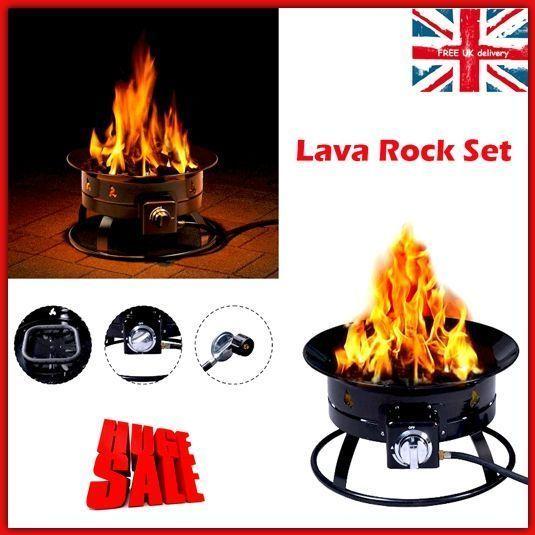 Garden Fireplace Patio Gas Firepit Steel Outdoor Heater Portable Fire Bowl  Lava