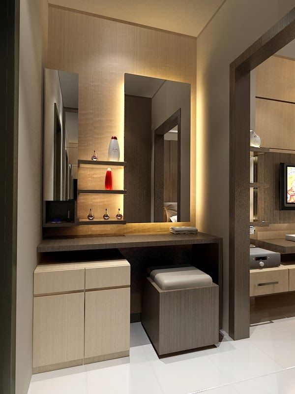 80 desain meja hias minimalis modern dan klasik lemari for Bathroom designs with dressing area