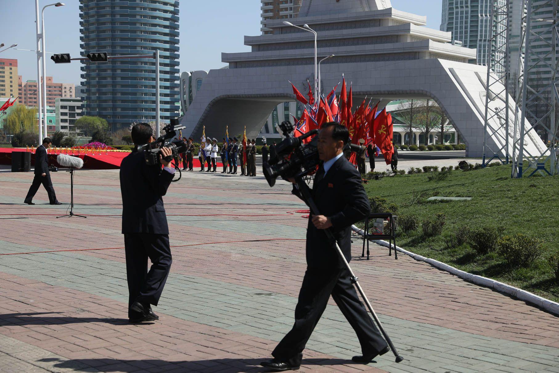 North Korean journalists