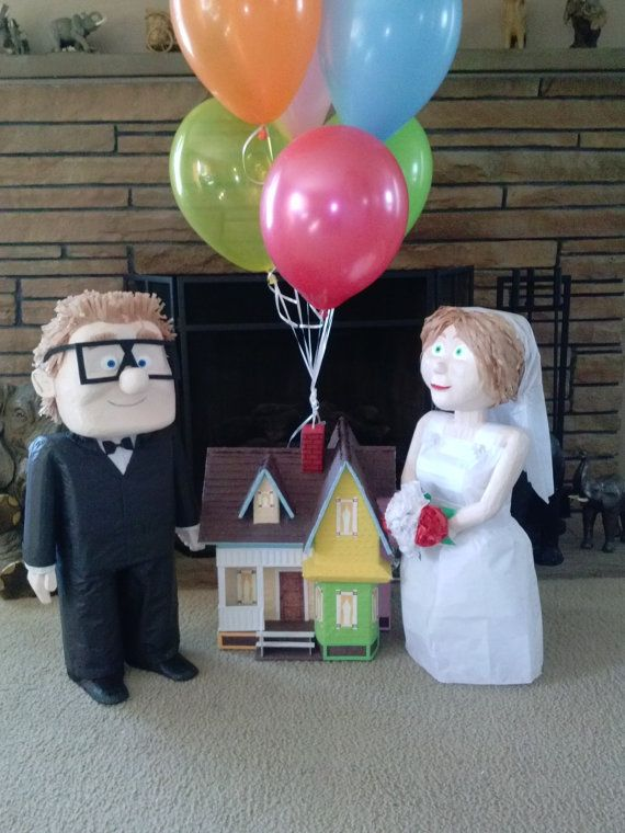 Carls and Ellie wedding decoration from Disney Up by
