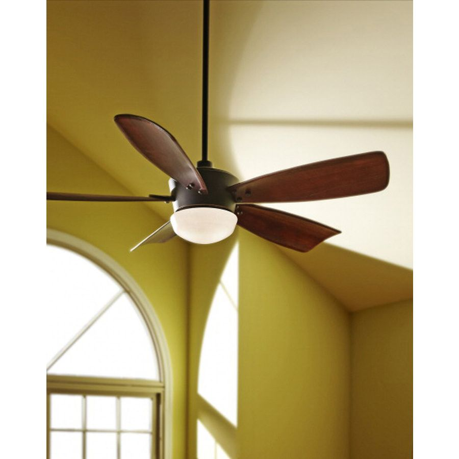 Shop Harbor Breeze Saratoga 60 In Oil Rubbed Bronze Downrod Mount Ceiling Fan With Light Kit And Remote A Bronze Ceiling Fan Ceiling Fan With Light Ceiling Fan