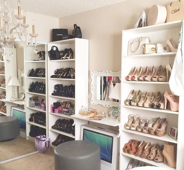 Best 25 Vanity In Closet Ideas On Pinterest: Shoe Display For Days! #style #fashion #shoes #heels