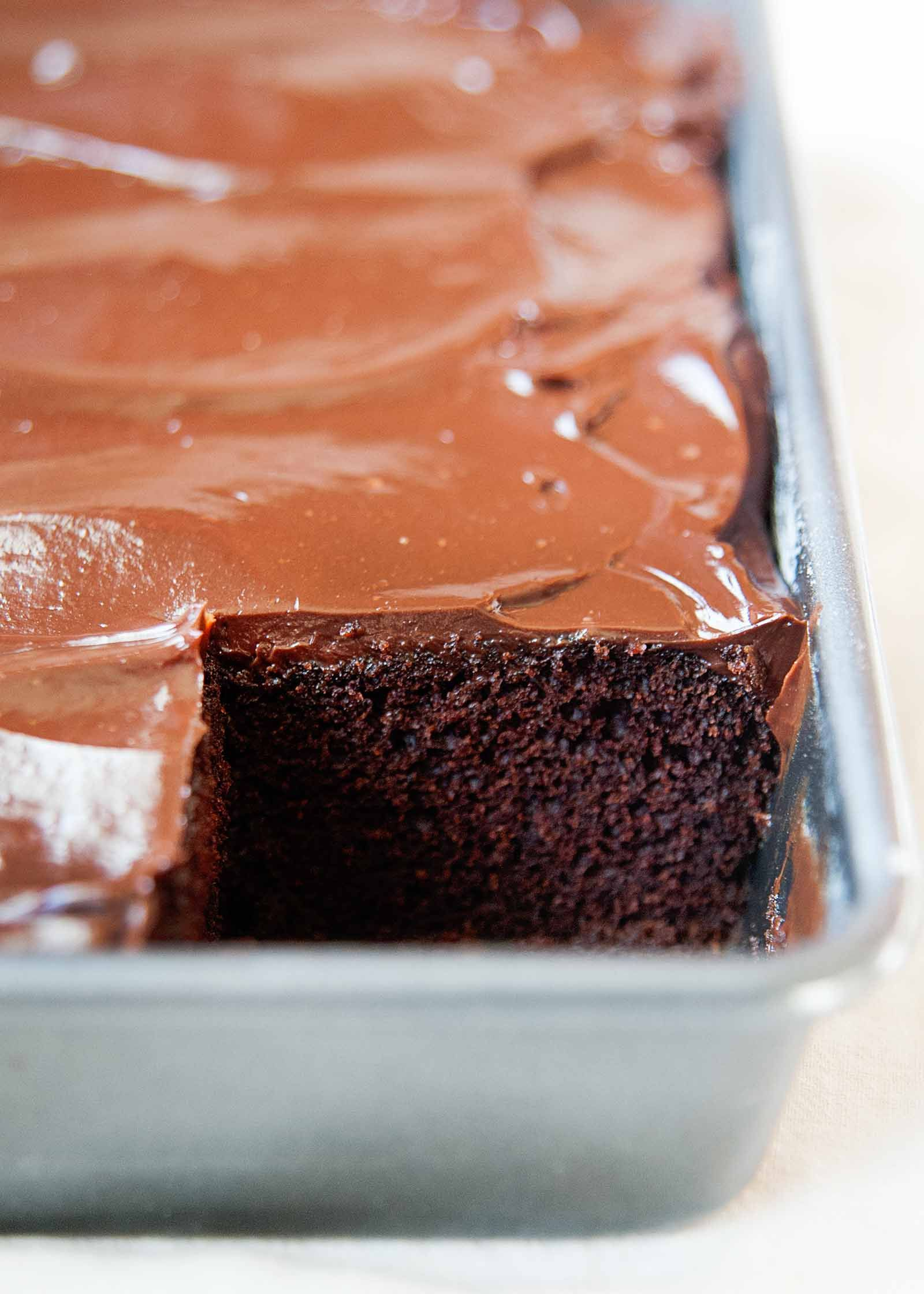 Chocolate Sour Cream Cake Homemade Frosting Simplyrecipes Com Recipe Sour Cream Chocolate Cake Cake Recipe With Sour Cream Sour Cream Recipes