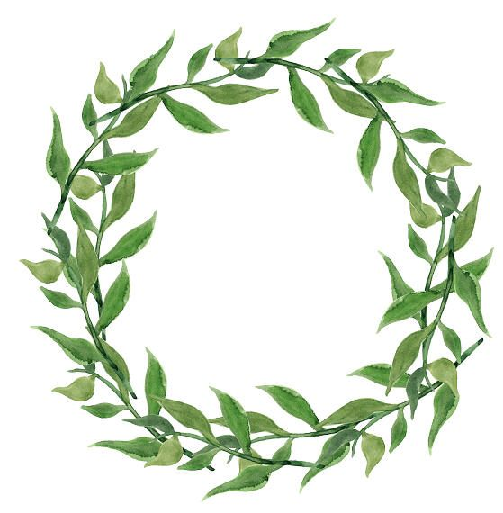 Greenery Clipart Watercolor Wreath Minimalist By ElegantPrintUS On Etsy