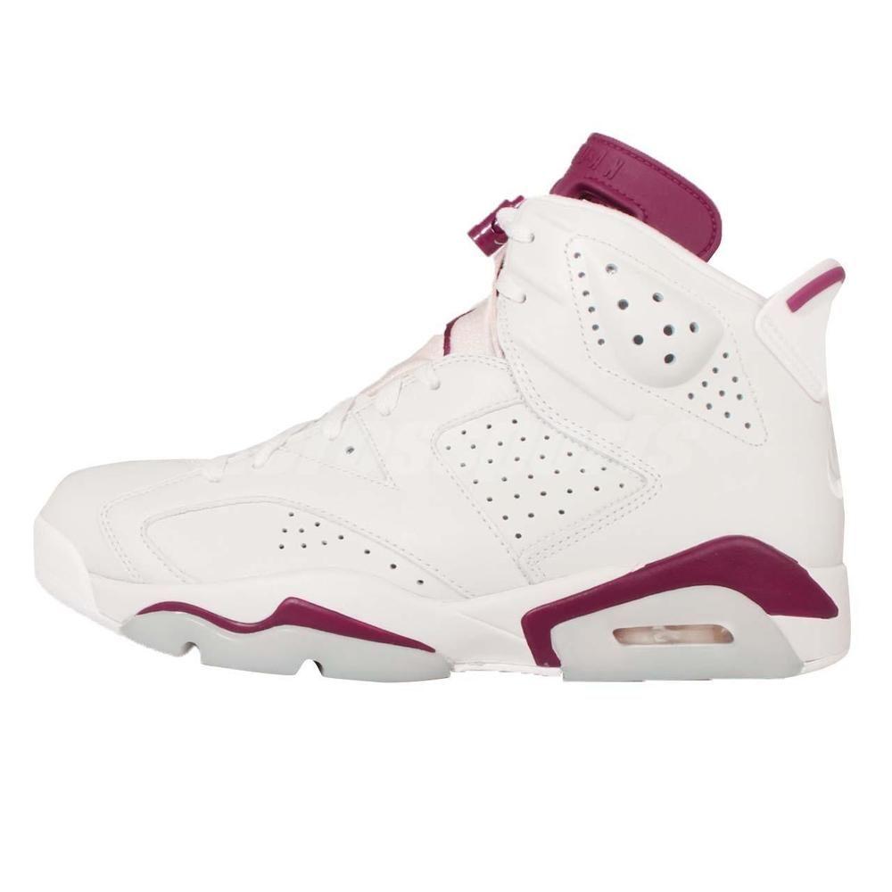 4de24aadafb Nike Air Jordan 6 Retro VI Maroon OG AJ6 6s Off White Sneakers 384664-116