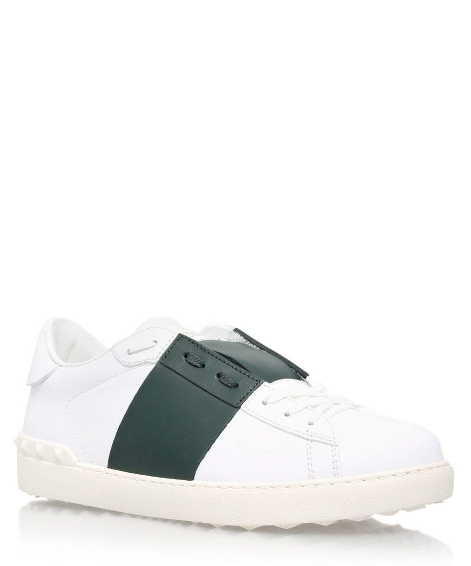 089f08932b5 Valentino White Tennis Stripe Trainers | Menswear | Liberty.co.uk ...