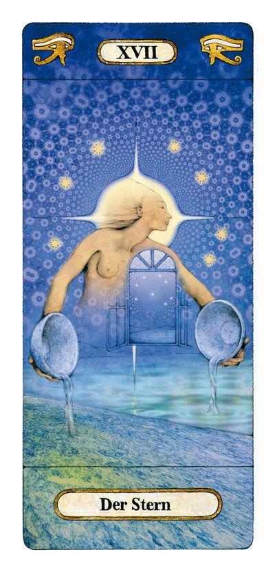 XVII - The Star Reinhard Schmid tarot card paintings | ✨Star