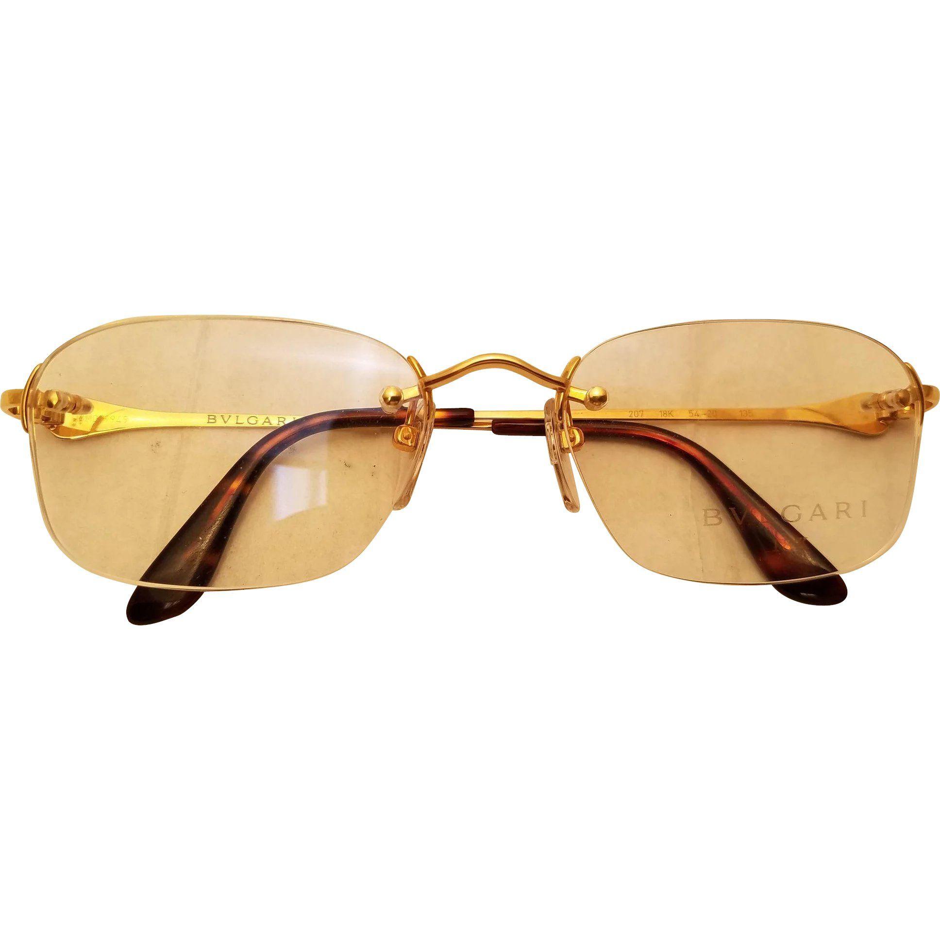 c3c96469e20 Bulgari  Bvlgari Gold 18k Rimless Sunglasses www.rubylane.com   vintagebeginshere  eyewear  glasses  sunglasses