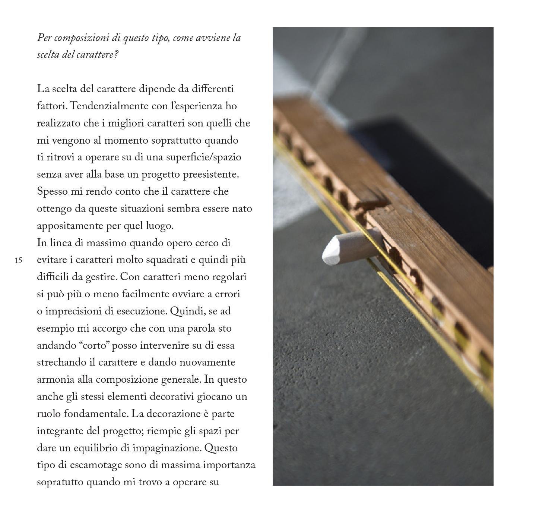Chalk Lettering  A Cura di Diego Chierichetti e Davide Fiorin / Ricerca di Storia Della Tipografia / Docente: James Clough / CFP BAUER 2014