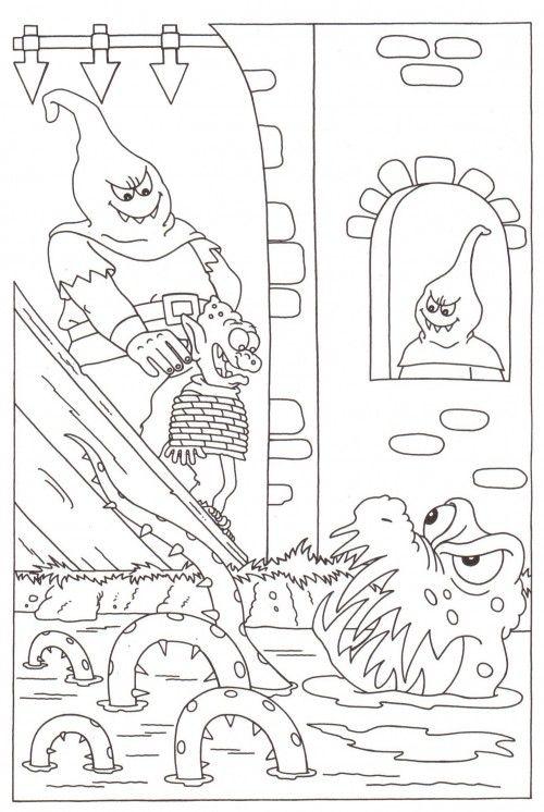 Halloween Fonts Et Coloriages Et Jeux à Imprimer Les Monstres