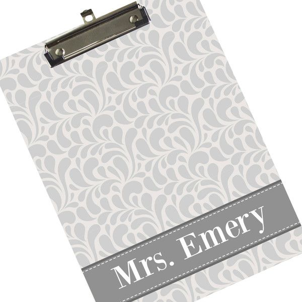 ($24) ❤ Liked On Polyvore Featuring Home, Home Decor, Office Accessories,  Home U0026 Living, Office, Office U0026 School Supplies, Silver, Personalized Clip  Boards ...