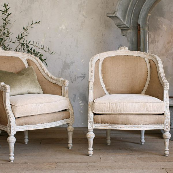 Two very stylish Louis XVIstyle chairs Louis xvi Sitting area