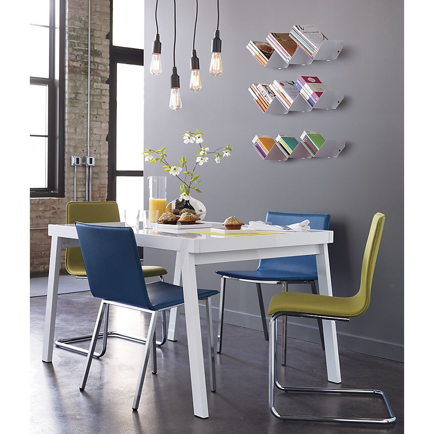 Pocket White Extension Dining Table In View All Furniture | CB2