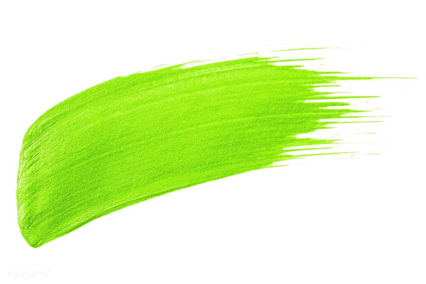 Neon Lime Green Brush Stroke