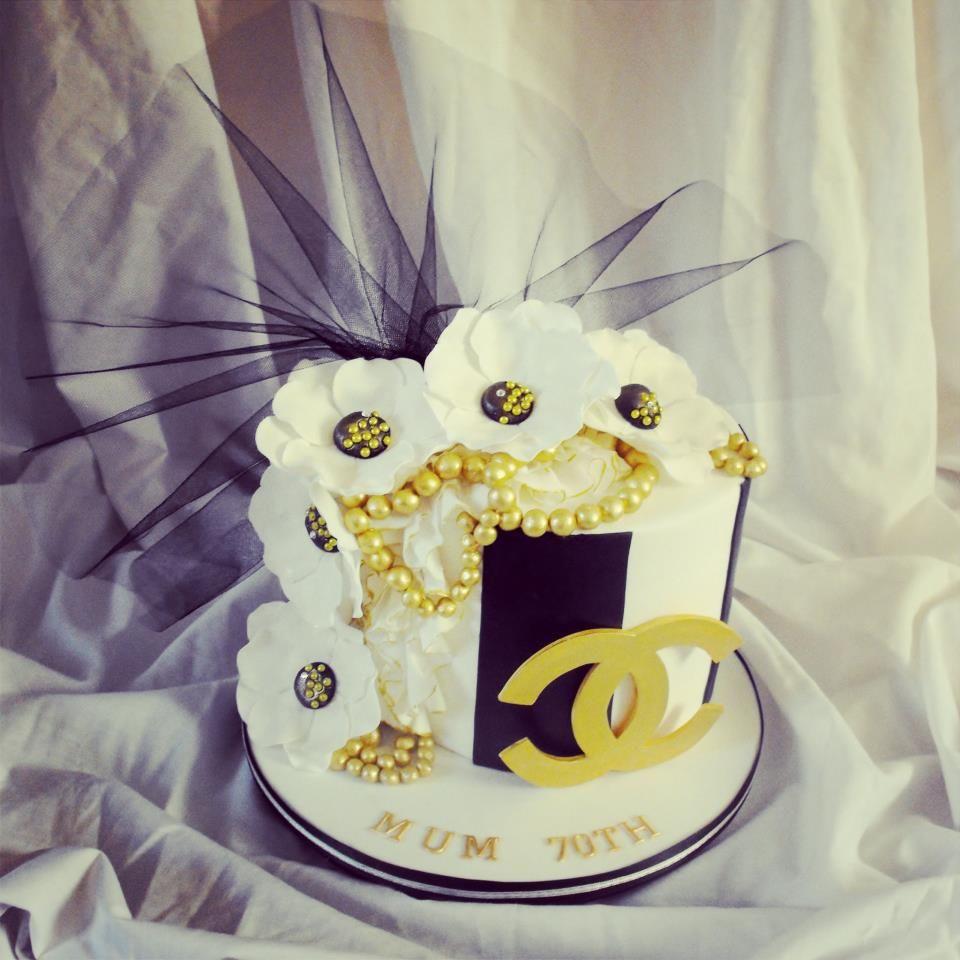 Chanel inspired ladies birthday cake - *