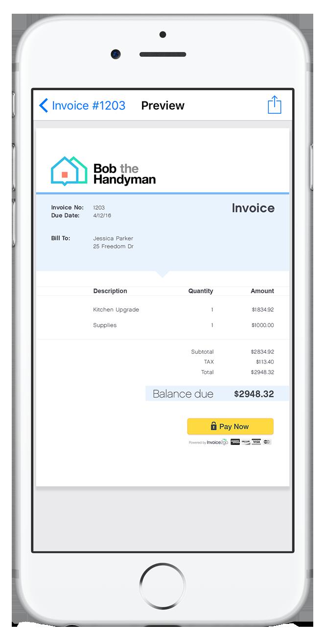 professional invoice app invoice templates tools invoice2go