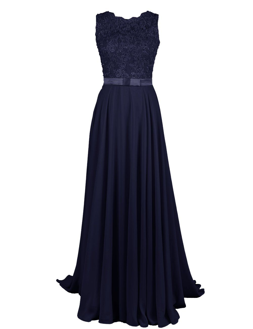 Dressystar long bridesmaid lace appliques prom dresses scoop party