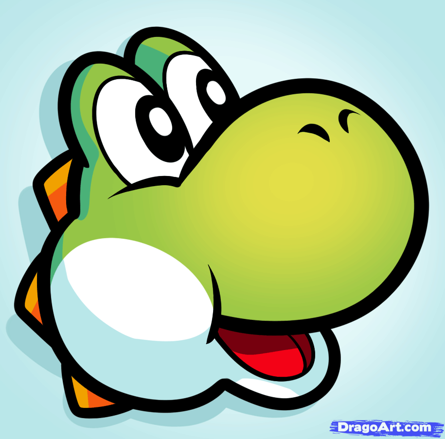 How To Draw Yoshi Easy Step By Step Video Game Characters Pop