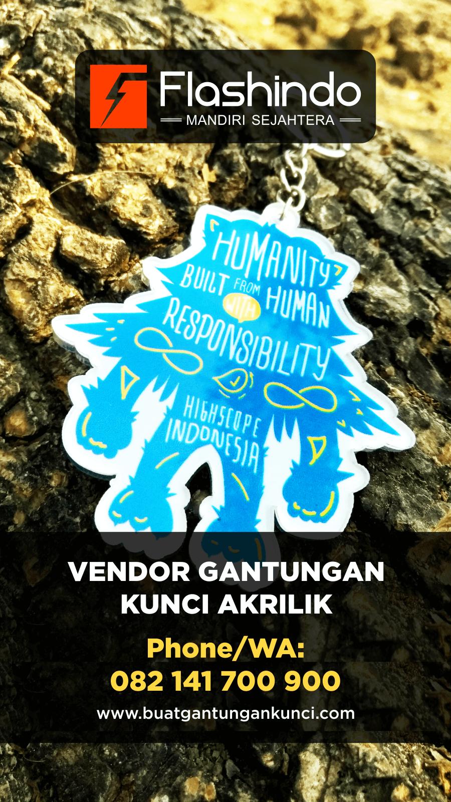 Gantungan kunci humanity built from human responsibility