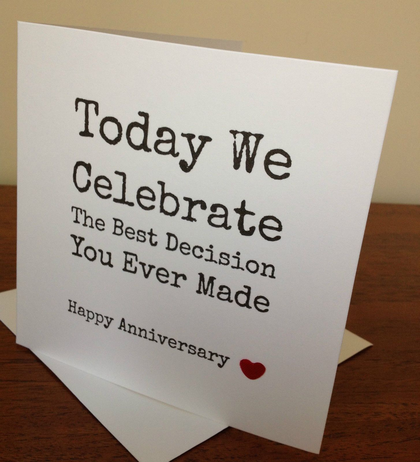Handmade wife husband anniversary card funny for Best marriage anniversary gifts
