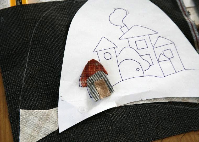 Tutorial de zapatillas de casa de patchwork parches - Casas de patchwork ...