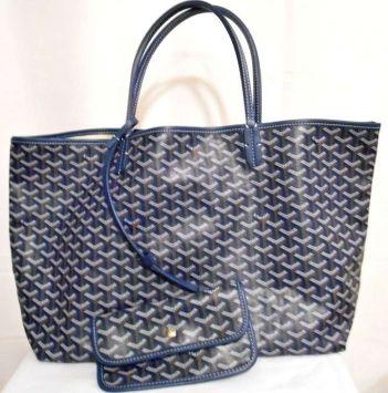 7047e76ed3 Goyard St. Louis Gm Navy Blue Tote Bag $646   'cause i'm easy come ...