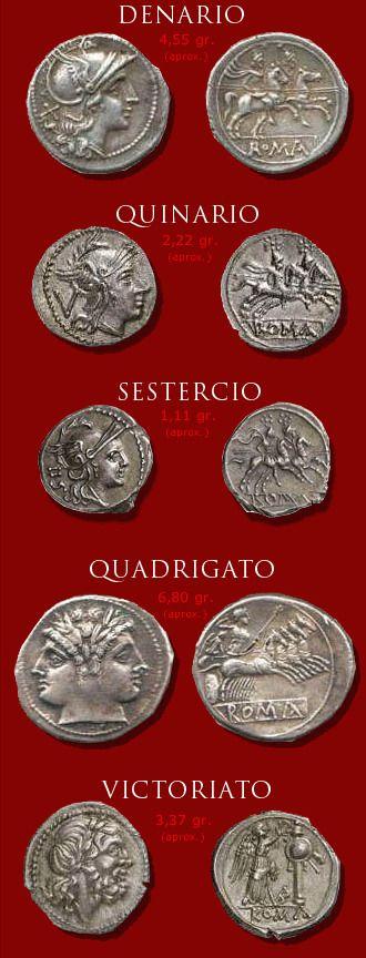 N♡T  Origen del denario | Ancient Rome | Ancient roman coins, Roman