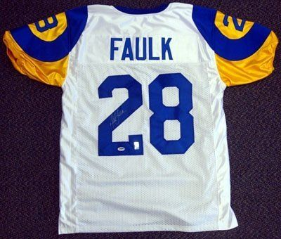 Marshall Faulk Autographed Hand Signed St. Louis Rams White Jersey PSA DNA  by d2534135f
