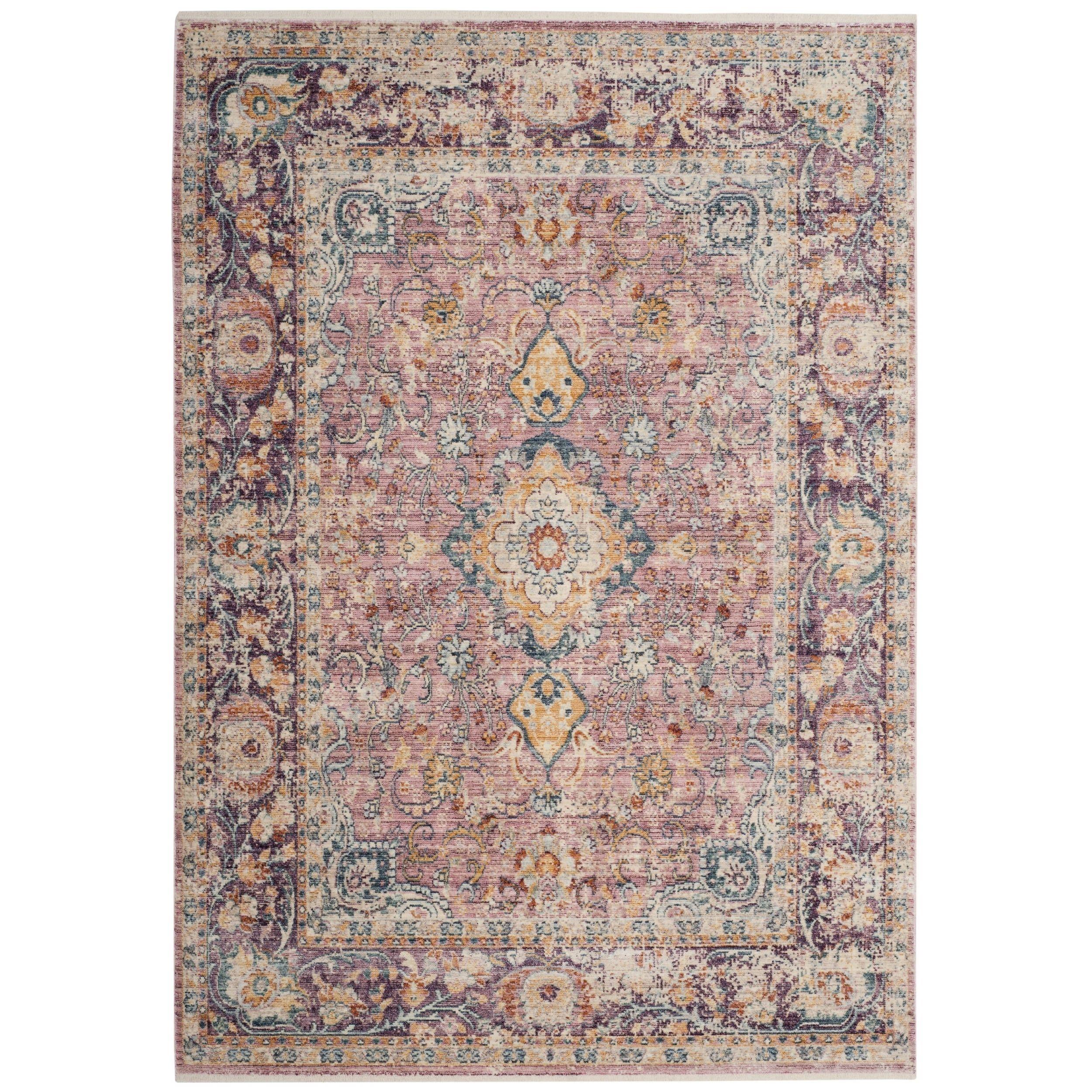 Safavieh Illusion Daijah Vintage Boho Oriental Viscose Rug With Fringe Purple Area Rugs Floral Rug Area Rugs