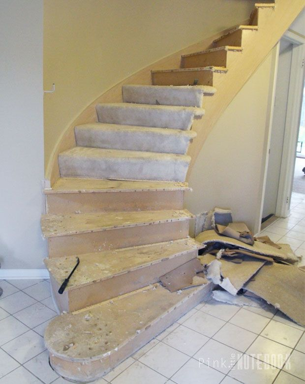 Best Curved Staircase Remodel Before After Stair Plan 400 x 300