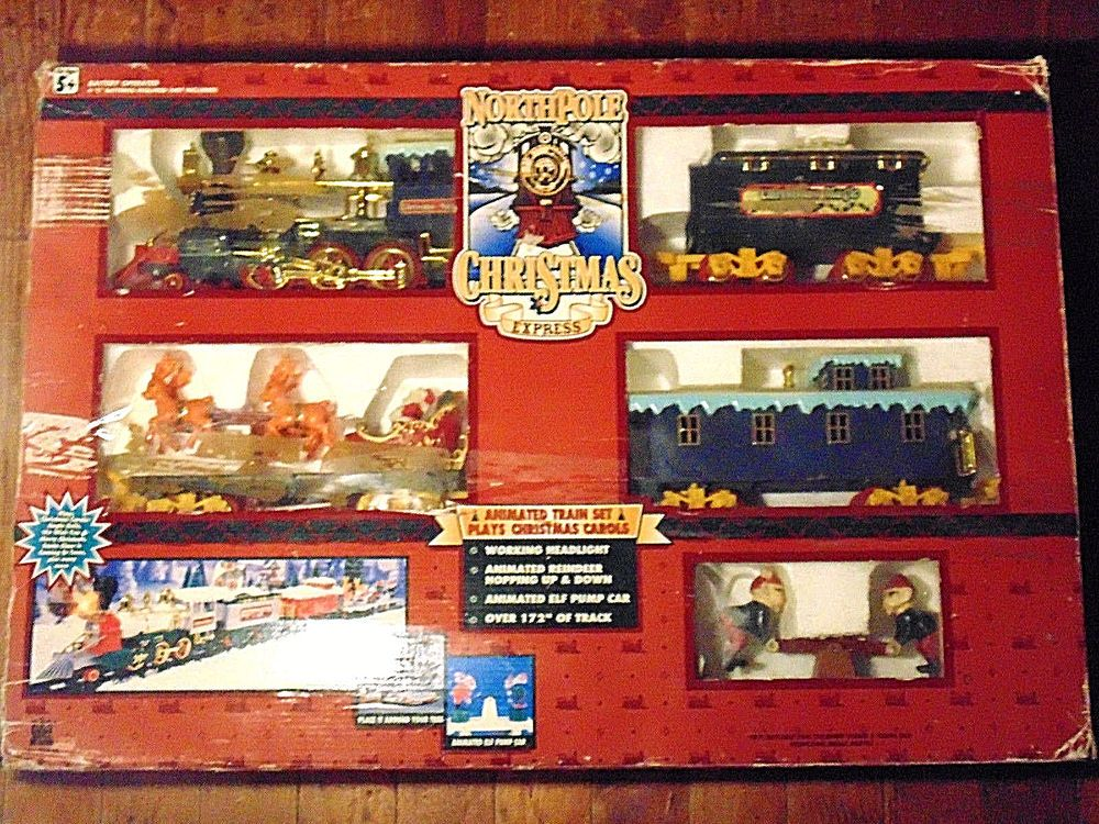 Toy State North Pole Christmas Express 1996 Train Set #5301 ...