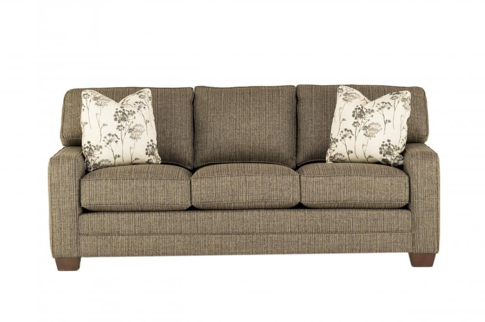 Superior Gray Bentley Sofa By King Hickory Furniture Company