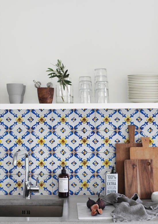 Kitchen Wall Wallpaper Vintage Tile Lime Lace Kitchen Interior Home Kitchens Home Decor