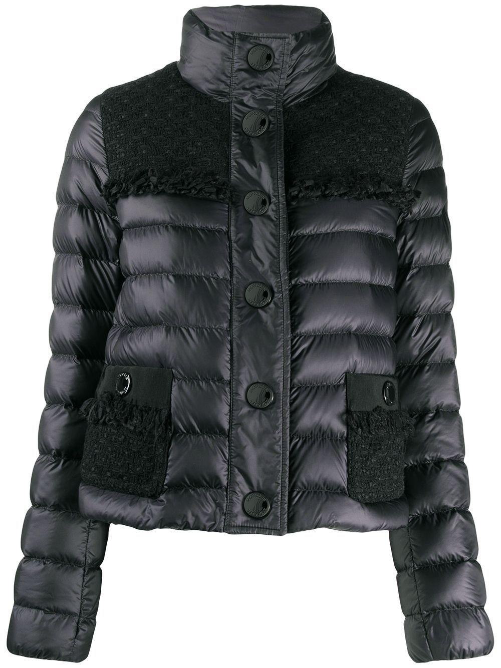 Moncler Tweed Panel Puffer Jacket Farfetch in 2020
