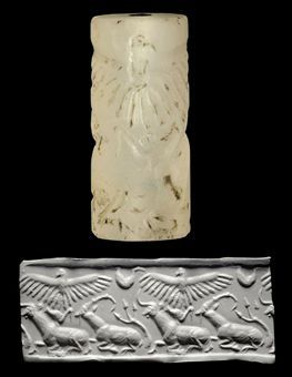 AN ELAMITE CHALCEDONY CYLINDER SEAL CIRCA 3000-2800 B.C.