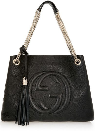 efc99d7e08f Gucci - Soho Medium Textured-leather Shoulder Bag - Black