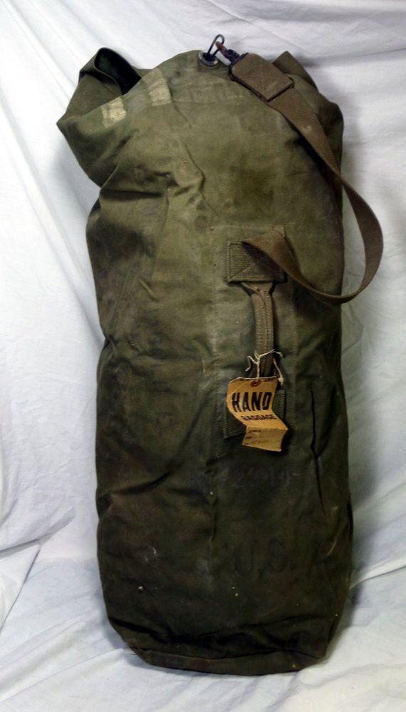 WWII Vintage U.S. Army Duffle Bag With by AmalgamationCapital  bc707788361b2