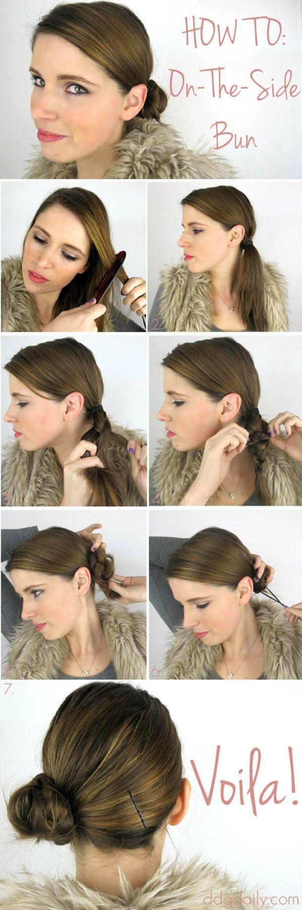 How to create a low side bun in less than minute peinados