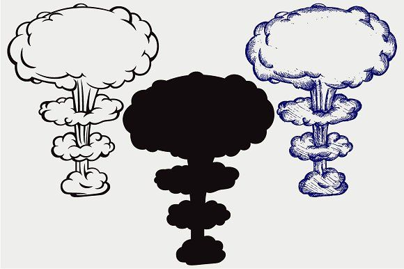 Explosion Svg Explosion Drawing Explosion Nuclear Bomb