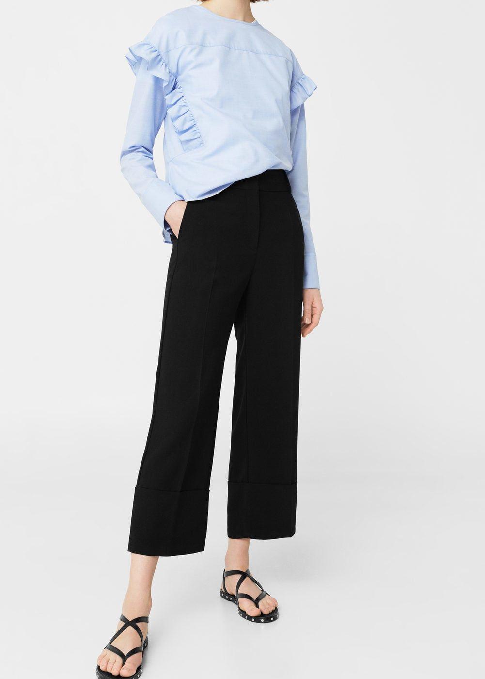 e62bfa0ec30e Rolled-up hem trousers - Woman