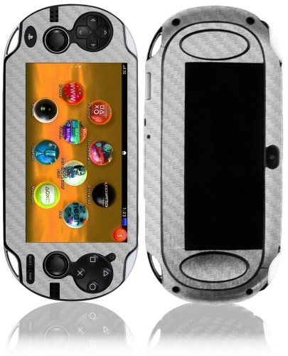 Full Coverage Skinomi Black Carbon Fiber Full Body Skin Compatible with Sony PlayStation Vita Wifi TechSkin with Anti-Bubble Clear Film Screen Protector