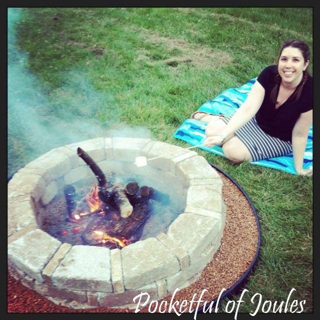 Diy Fire Pit Built With Home Depot Rumble Stone Diy Fire Pit Fire Pit Backyard