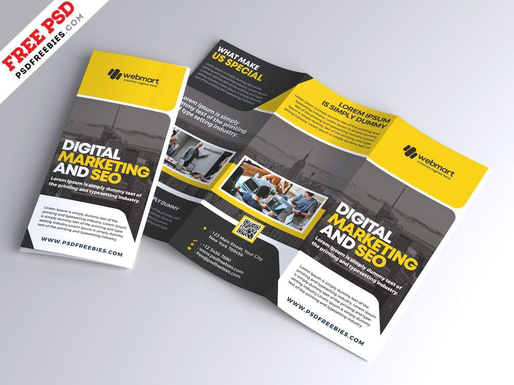 Corporate Tri Fold Brochure Design Psd Psd Print Template