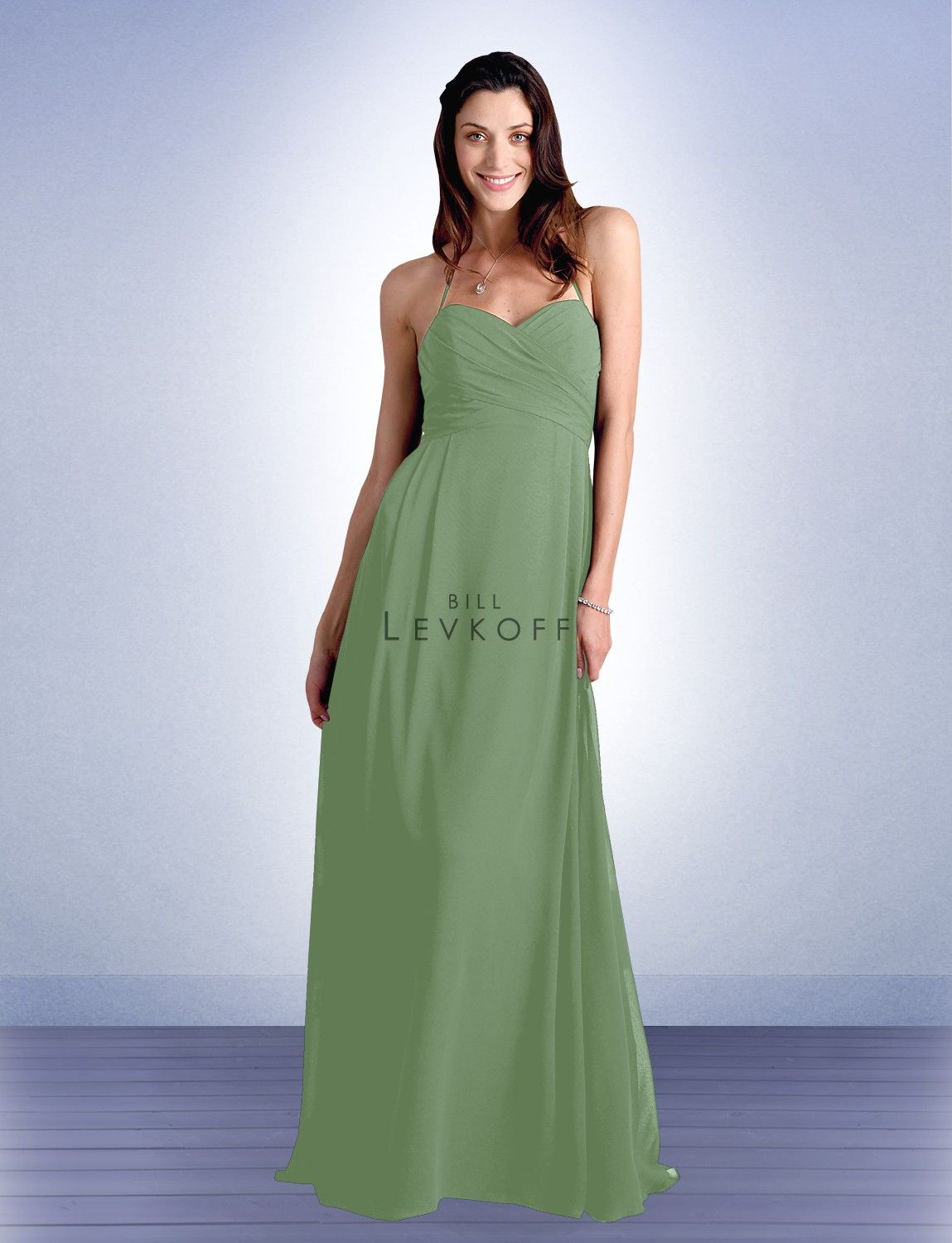 Bridesmaid Dress Style 430 Bill Levkoff - MOHs - Pistachio, Bridesmaids - Clover