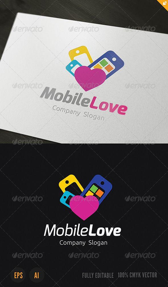 Mobile Love Logo Love logo, Mobile shop, Logos