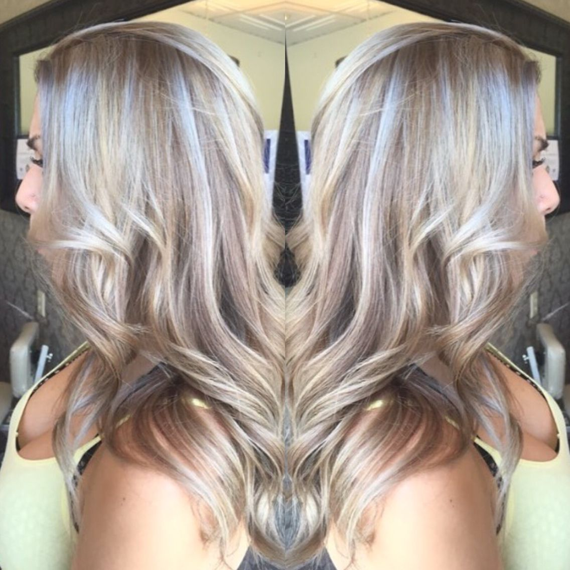 Blonde Bombshell Silver Grey Toner Over Highlighted Hair