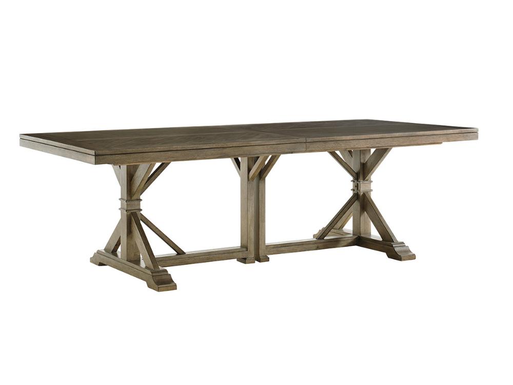 Pierpoint Double Pedestal Dining Table Lexington Home Brands
