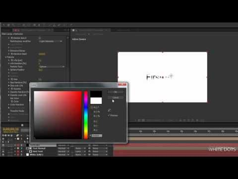 After effects Tutorial #2 Particle Ink Effect | Video